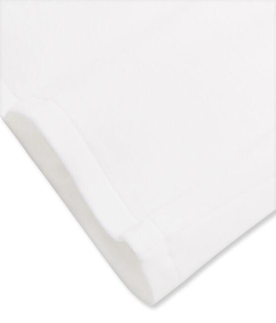 Tee shirt femme iconique en manches courtes blanc Ecume