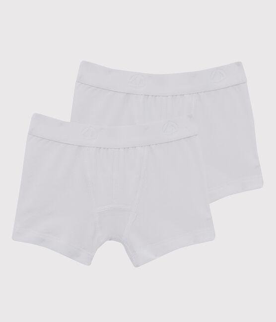 Lot de 2 boxers blancs petit garçon lot .