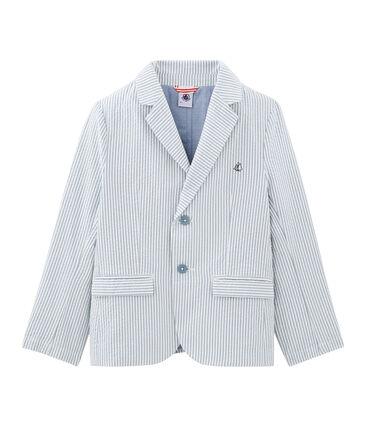 Veste enfant garcon bleu Fontaine / blanc Marshmallow