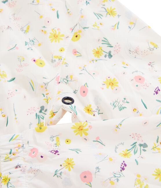 Coupe-vent enfant fille blanc Marshmallow / blanc Multico