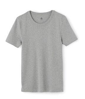 Tee shirt manches courtes iconique en côte originale 100% coton. gris Subway