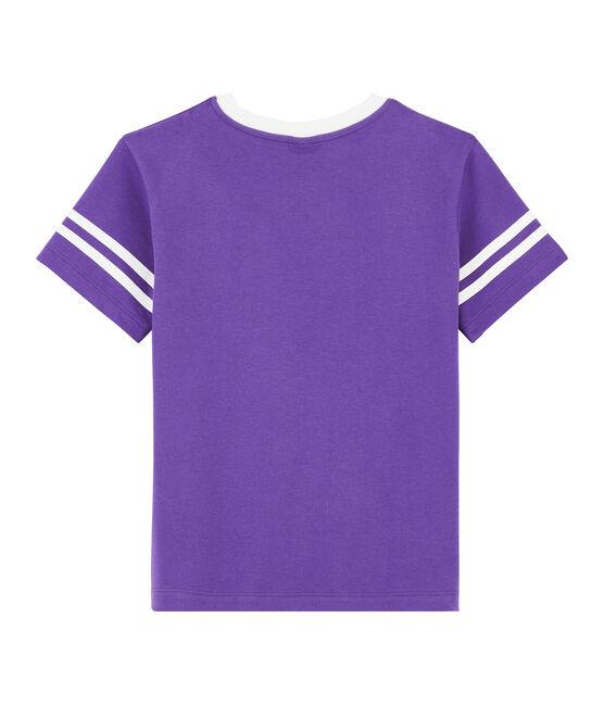 Tee-shirt enfant garcon violet Real