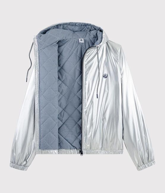 Coupe-vent chaud recyclé femme/homme gris Argent