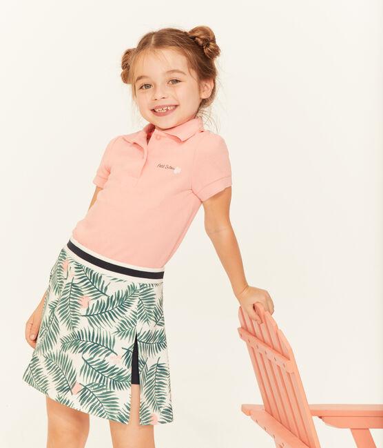 Polo à manches courtes enfant fille rose Rosako
