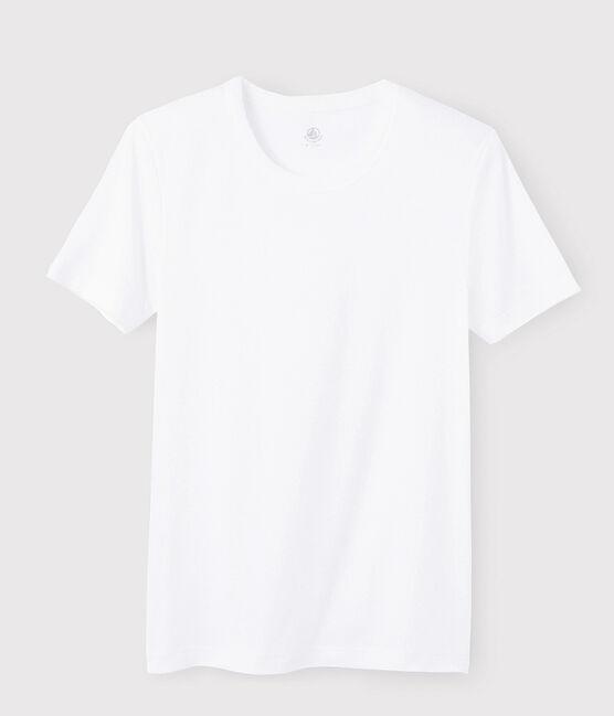 T-shirt manches courtes Homme blanc Ecume