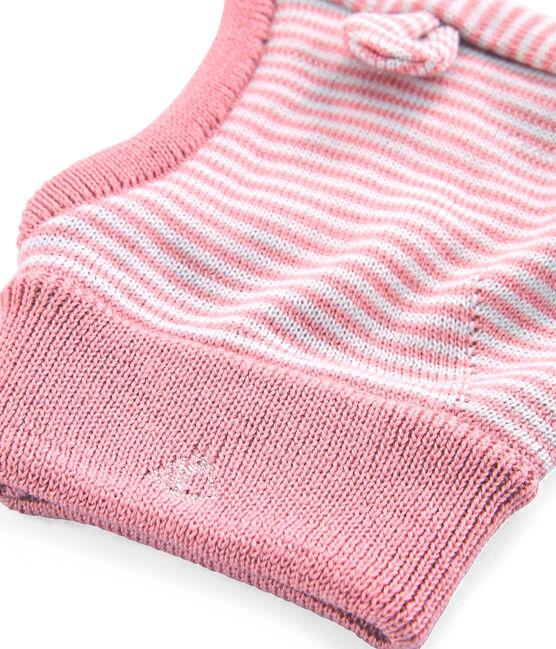 Cagoule bébé mixte rose Charme / blanc Marshmallow