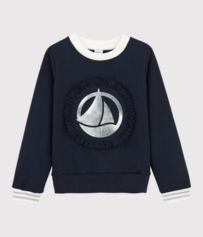 Sweatshirt enfant fille bleu Smoking