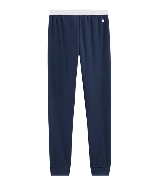 Pantalon de pyjama homme en côte bleu Haddock