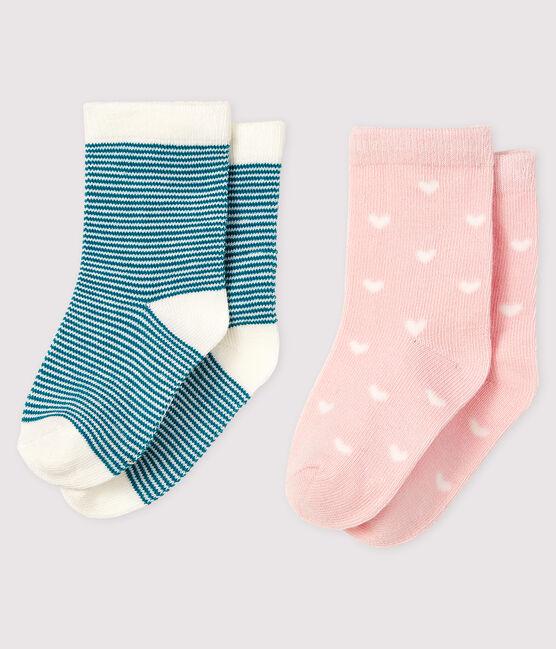 Lot de 2 paires de chausettes bébé lot .