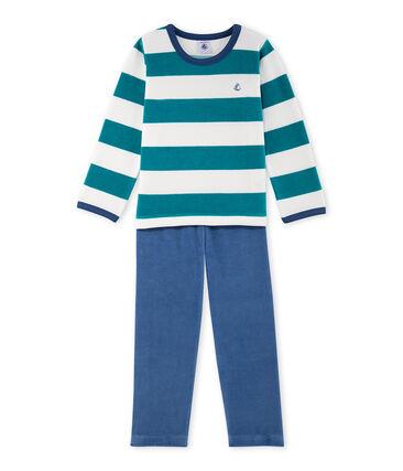 Pyjama garçon en velours rayé