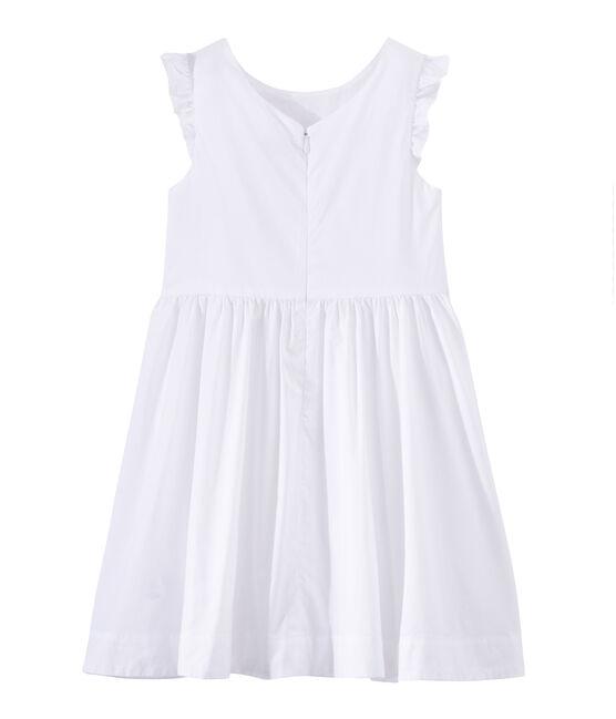 Robe de cérémonie fille blanc Ecume