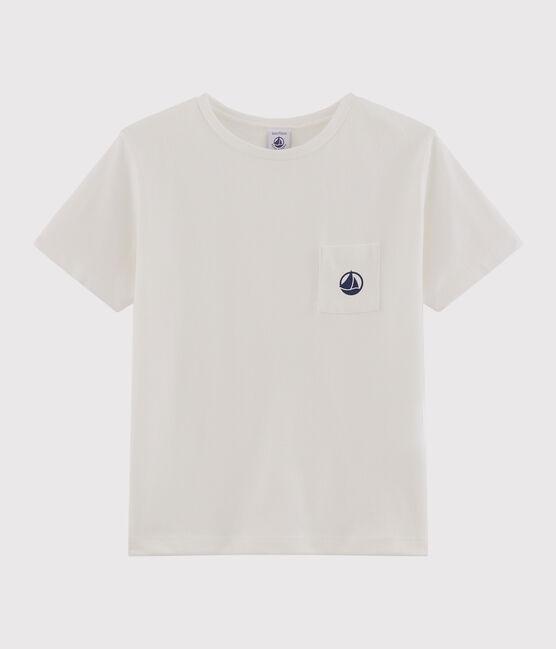 Tee-shirt manches courtes enfant garçon blanc Marshmallow