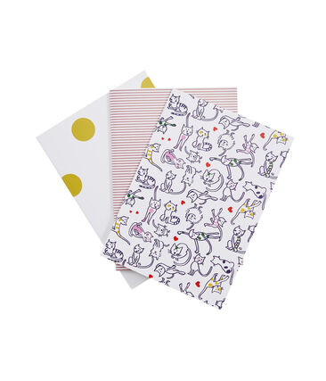 Lot de trois carnets blanc Marshmallow / blanc Multico