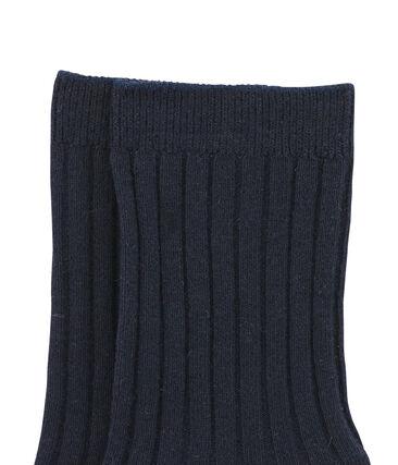 Chaussettes enfant mixte bleu Smoking