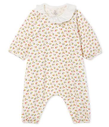 Combinaison courte bébé fille en côte