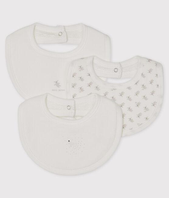 Trio de bavoirs bébé en côte lot .