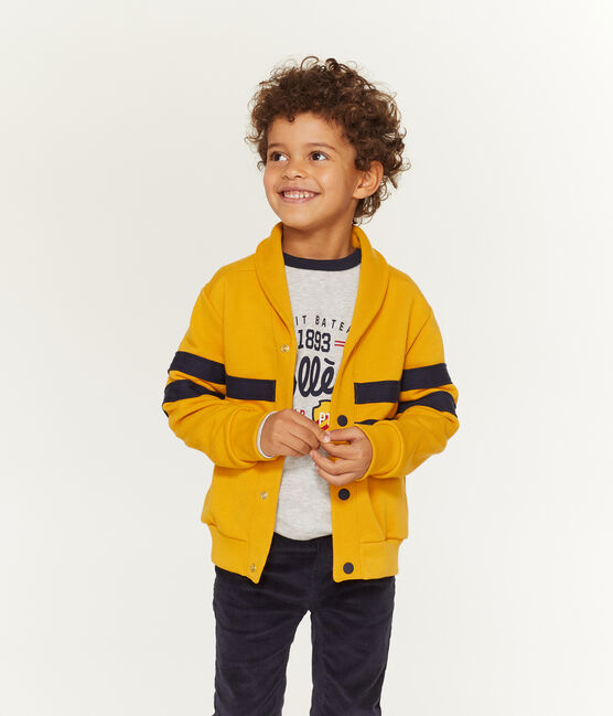 Cardigan enfant garçon jaune Boudor
