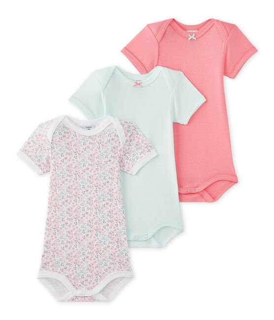 Lot de 3 bodies bébé fille manches courtes lot .