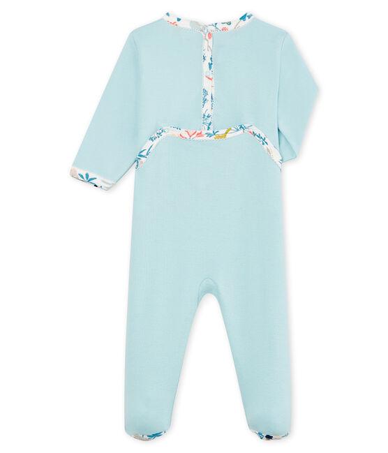 Dors bien bébé fille en côte bleu Crystal