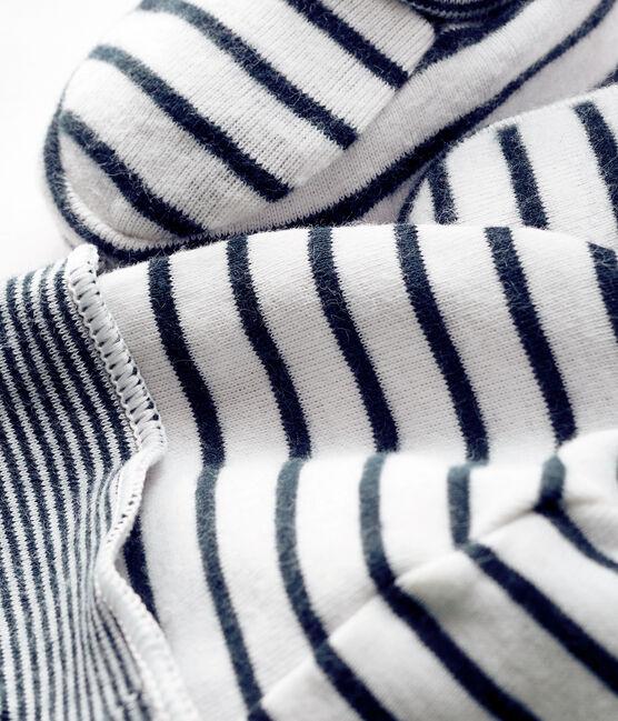 Lot bonnet et chaussons bébé garçon en côte lot .