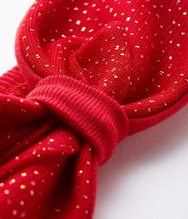 Bandeau bébé fille rouge Terkuit / jaune Or