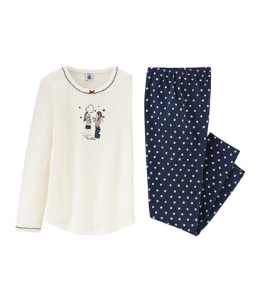Pyjama petite fille en côte