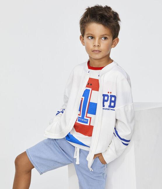 Cardigan enfant garçon blanc Marshmallow