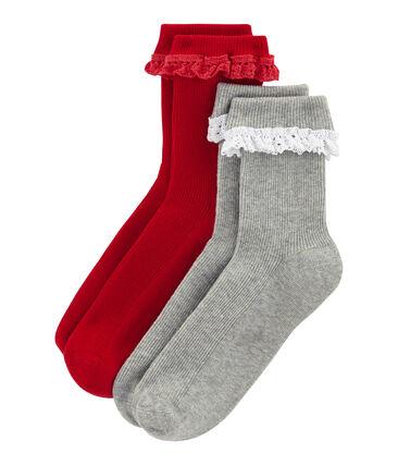 Lot de 2 paires de chaussettes enfant fille