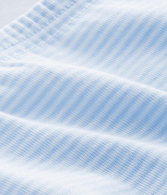 PANTALON À PIED BÉBÉ MIXTE UNI bleu Fraicheur / blanc Ecume