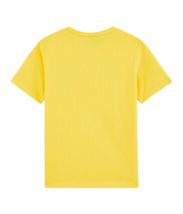 Tee-shirt enfant garcon jaune Shine