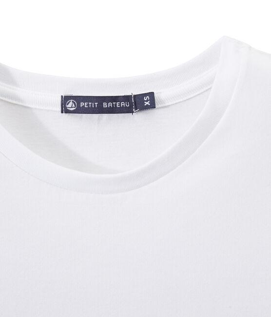 T-shirt femme INDISPENSABLE en jersey fin blanc Ecume
