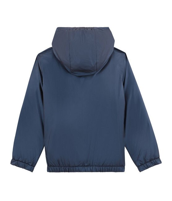 Coupe-vent chaud reversible enfant bleu Smoking