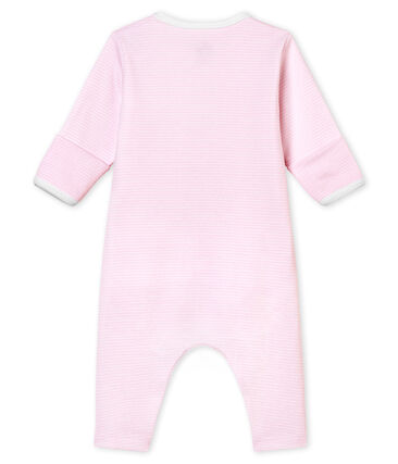 Dors bien sans pieds bébé mixte avec body intégré rose Pearl / blanc Multico