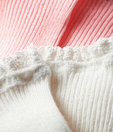 Lot de 2 paires de chaussettes bébé fille rose Minois
