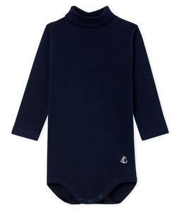 Body manches longues col roulé bébé mixte bleu Smoking