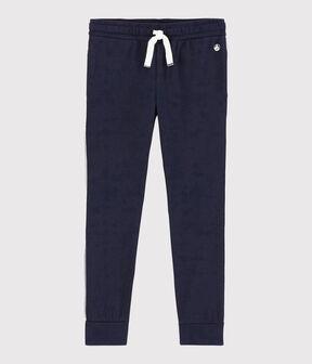Pantalon de jogging en jersey enfant garçon bleu Smoking