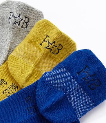 Lot de 3 paires de chaussettes enfant mixte