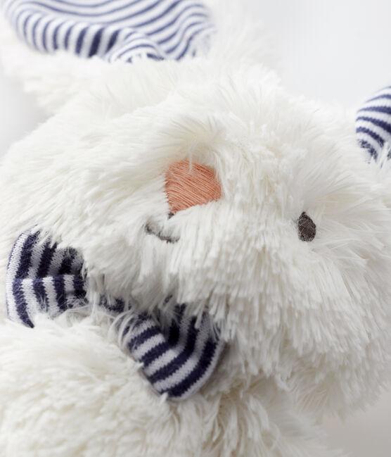 Doudou lapin nœud papillon en sherpa blanc Marshmallow