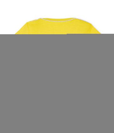 Tee shirt manches courtes bébé garçon jaune Shine