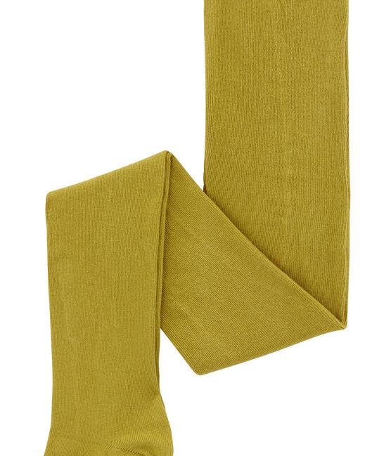 Collant fille en jersey jaune Inca