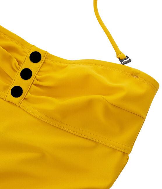 Maillot de bain 1 pièce femme jaune Bamboo