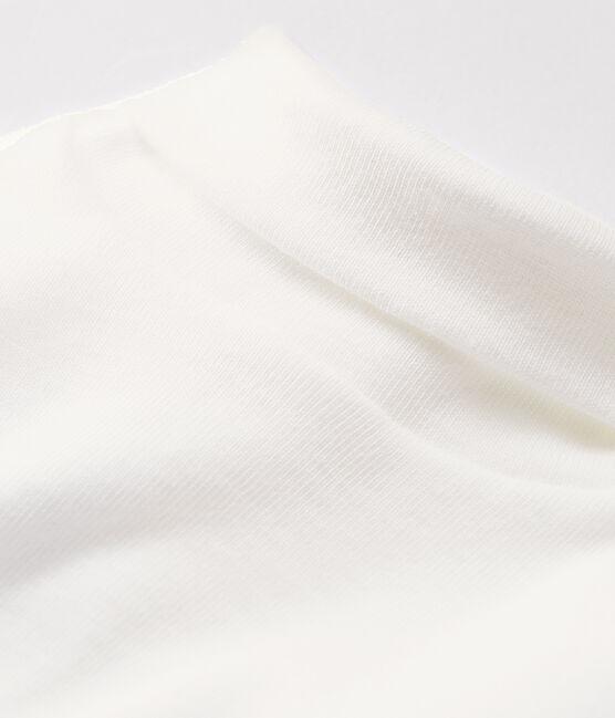 Body manches longues col roulé bébé blanc Marshmallow
