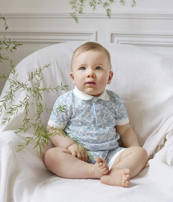 Polo imprimé bébé garçon blanc Marshmallow / blanc Multico