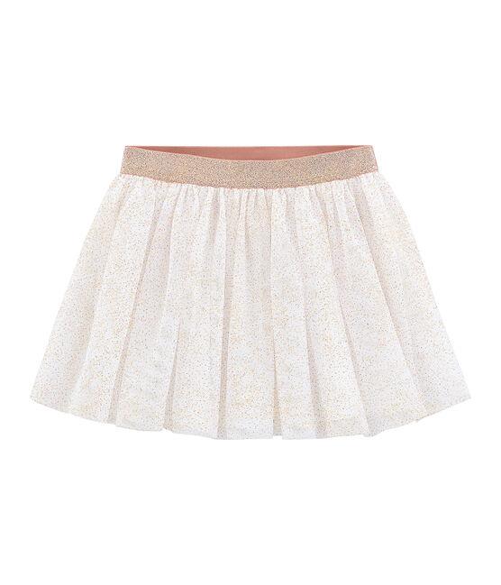 Jupe enfant fille blanc Marshmallow / rose Copper