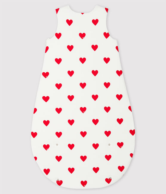 Gigoteuse cœur rouge bébé en coton blanc Marshmallow / rouge Terkuit