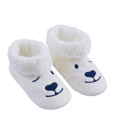 Chaussons mixtes en polaire blanc Marshmallow