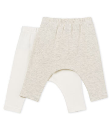 Lot de 2 leggings bébé mixte