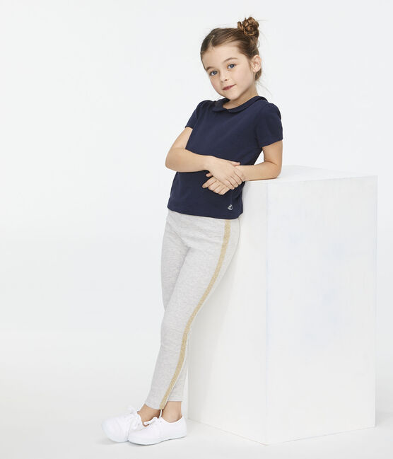 Tee-shirt enfant fille bleu Smoking