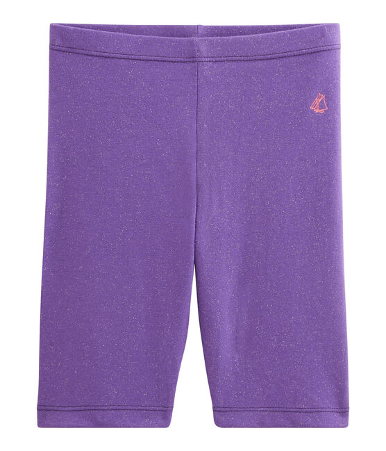 Cycliste enfant fille violet Real / jaune Or