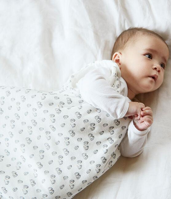 Gigoteuse bébé en velours blanc Marshmallow / gris Sculpture
